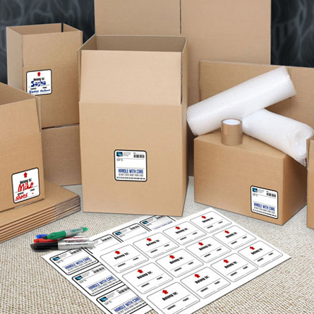 Box & Moving Labels