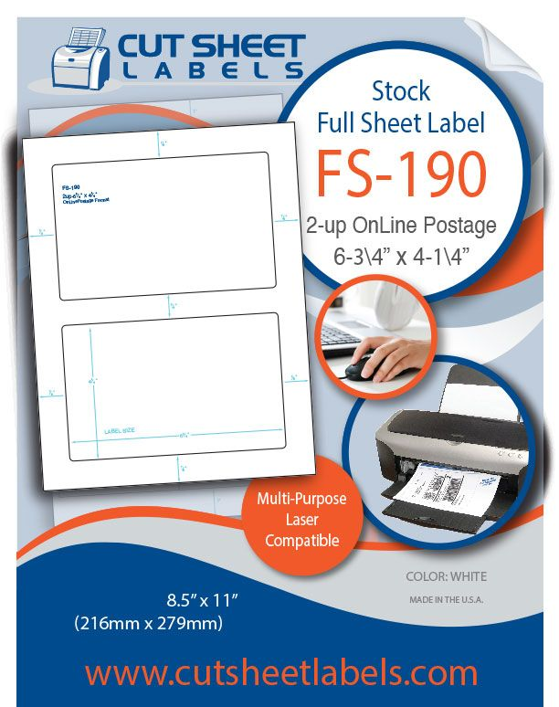 Blank full sheet labels fs 190
